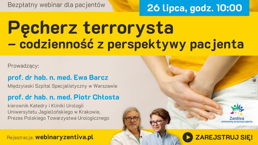 Zaproszenie na bezpłatny webinar dla pacjentów z chorobami urologiczno-ginekologicznymi