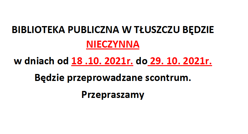 Inwentaryzacja w Bibliotece Publicznej